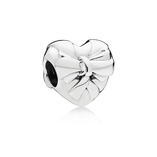 Pandora Moments Brilliant Heart Bow Damen Bead Charm 925 Sterlingsilber 11,5 x 12 mm