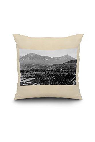 Paonia, Colorado - Panoramic View of Town, Mt Lamborn Photograph (18x18 Spun Polyester Pillow Case, White Border)