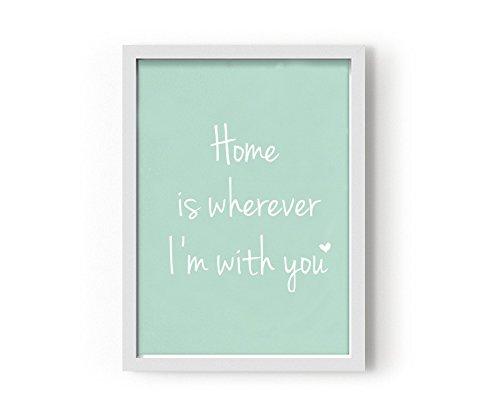 Kenay Home Lámina Home, Papel, Verde Menta, A3