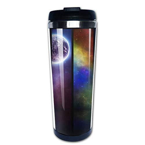 QIUJUAN Planet Photo Print Travel Mug 400 Ml Portable Coffee Travel Mug For Men Women Stainless Steel Tumbler Cup (Keurig Portable)
