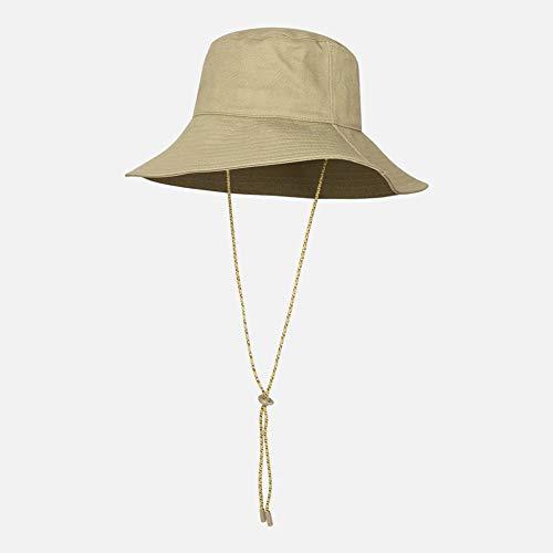 Ylik Damen Packable Fisherman Bucket Hat Outdoor-Hut mit Kinnriemen - Sonnenschutz Packable Bucket