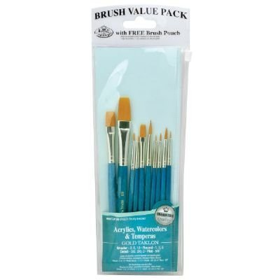 Royal & Langnickel RSET-9156 9100 Series Teal Blue 10-Piece Brush Set 3 by Royal & Langnickel -