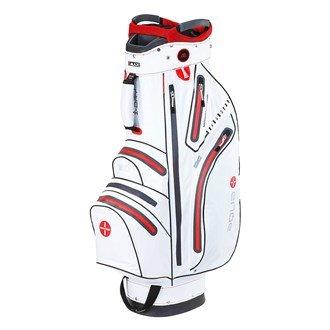 BIG MAX I-Dry Aqua Sport Golf Cartbag - 100% Wasserdichte Golftasche 2016 (Weiß-Rot)