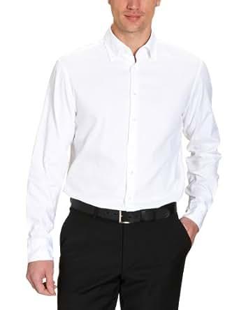 Jacques Britt Herren Businesshemd Regular Fit 20.960310-01, Gr. 45, Weiß (01 - white)