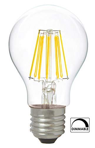 Bombilla de filamento LED greenandco® IRC 90+ regulable E27 8W (corresponde a...