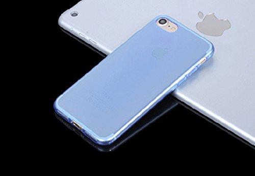 Schutzhülle für Apple Iphone 7 4.7 Zoll Smart Slim Case Book Cover Stand Flip (Farbe: gold) NEU in Blau