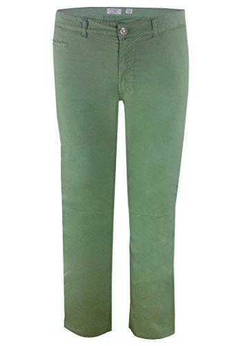 "Maxfort-Pantaloni estivi da uomo, chino 33"" verde 76 cm"