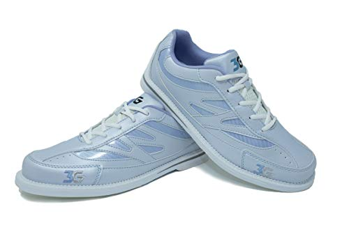 Bowling-Schuhe, 3G Cruze, Damen und Herren, für Rechts- und Linkshänder, 4 Farben, Schuhgröße 36-46 (39, Weiß/Ivory)