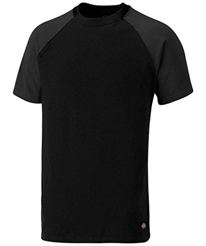 Dickies T-Shirt Two Tone SH2007, Verschieden Farben und Größen, Optimale Passform, Passend zur Everyday 24/7 Kollektion 2017 (XL, Schwarz/Grau) (Raglan-Ärmel Herren)