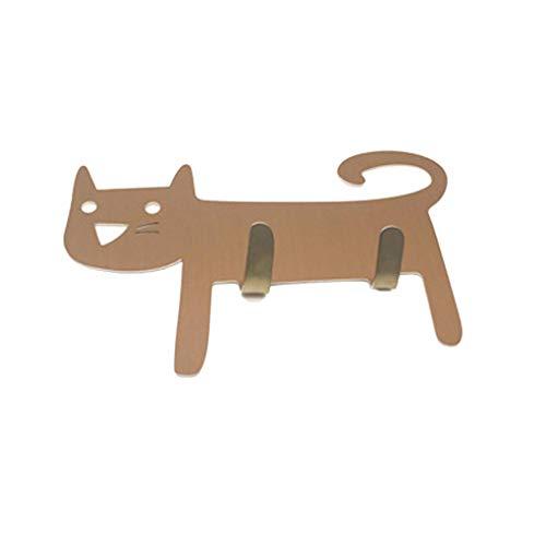 Animal Cartoon Dekorative Haken Wall 2 Haken Wandaufhänger Keys Haken Handtuch Hanger Coat Schlüssel Taschen Halter-Küche-Badezimmer-Dekor Regard L