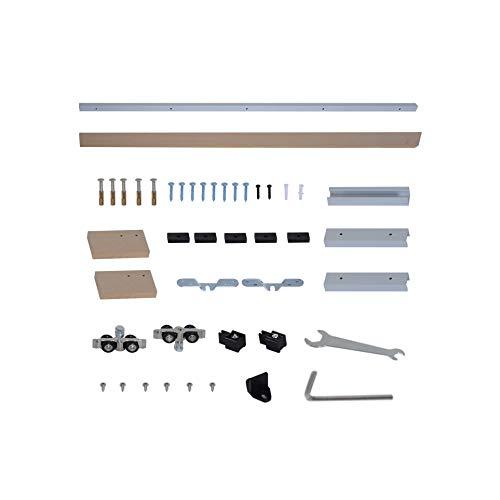 Kit de Instalación con riel y guía para Puerta Corredera - Aluminio...