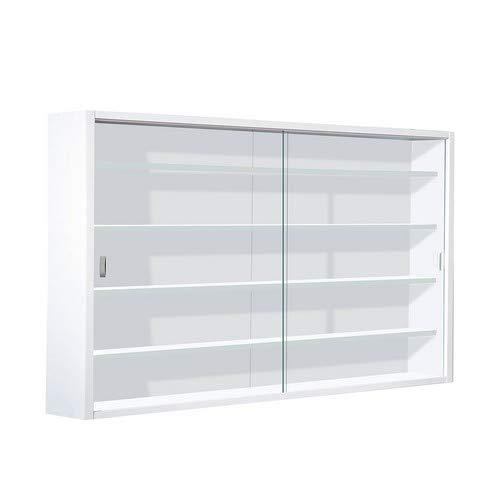 316UZxAa%2BJL - Easy Home  Simply A20 -  Vitrina de  madera MDF y vidrio, Blanco