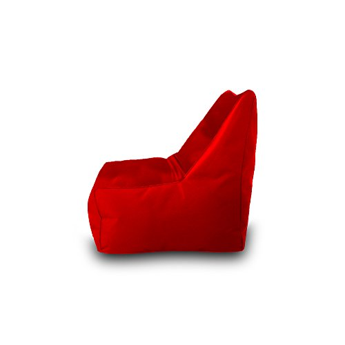 Pufmania Bean Bag Beanbag Chair Polyester Waterproof 75 x 75 cm (Red)