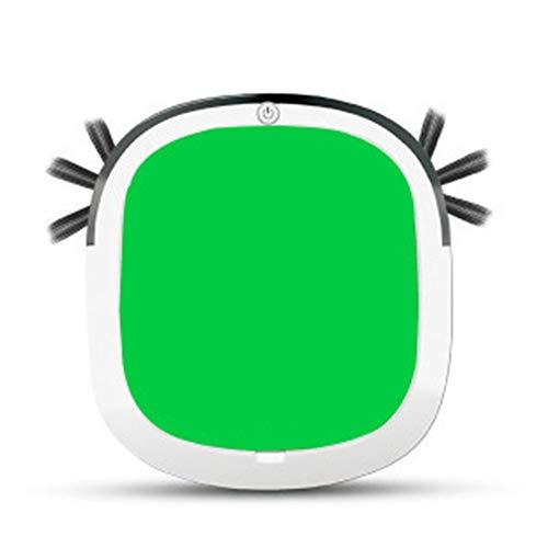 MMFFYZ Wiederaufladbarer Bodenfeger-Roboter-Staubfänger Intelligenter Bodenfeger-Staubsauger mit automatischer Induktionsfunktion, Anti-Drop und Anti-Kollision (Schwarz, Rot, Grün) - Boden Fegen Magnet