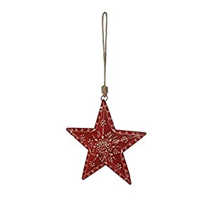 Sternhänger mit Muster rot   Fensterdeko   Fensterschmuck   Fenster Deko   Geschenkidee   Weihnachtsdeko Weihnachten