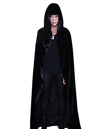 Kostüme Halloween Günstige (Halloween Umhang mit Kapuze Karneval Fasching Kostüm Tod umhänge Cosplay Hexen Robe)