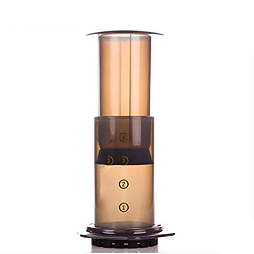 INEP Tragbare Handkaffeekanne, Kaffeemaschine mit Kaffeefilter Kit tragbare Kaffeemaschine, Drucktopf Kaffeefilterpapier leicht Qualität Kaffee zu Machen -