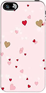 Snoogg Heart Pattern Pink Designer Protective Back Case Cover Forapple Iphone...
