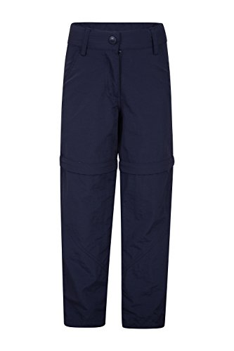 Mountain Warehouse Active Girls Convertible Trousers - Quick Dry, Shrink & Fade Resistant Pants, Elastic Waistband, Zip Off Summer Trousers -for Walking, Camping, Hiking