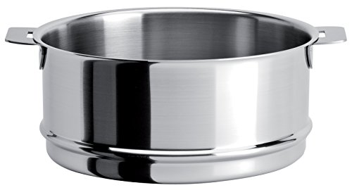 Cristel - ECV14QL - Élément cuit-vapeur inox 14cm - sans poignée amovible - Collection Strate