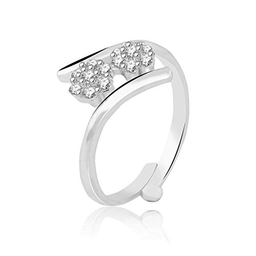Jewelscart Fancy Rings For Girls ,Women Silver Rhodium Plated In Black American Diamond Cz Jewellery  available at amazon for Rs.124
