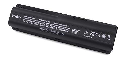 vhbw Batterie LI-ION 8800mAh 10.8V Noir Compatible pour HP Pavilion DV5-Serie: dv5-1003cl etc. remplace HSTNN-CB72, HSTNN-W50c, HSTNN-XB72, HSTNN-XB73