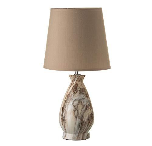 Lámpara de sobremesa rústica marrón de cerámica para salón Bretaña - LOLAhome