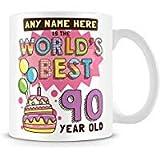 Tazza di caffè, per il ° compleanno regalo per donne personalizzati in ceramica Coffee Cup, 311,8gram, bianco