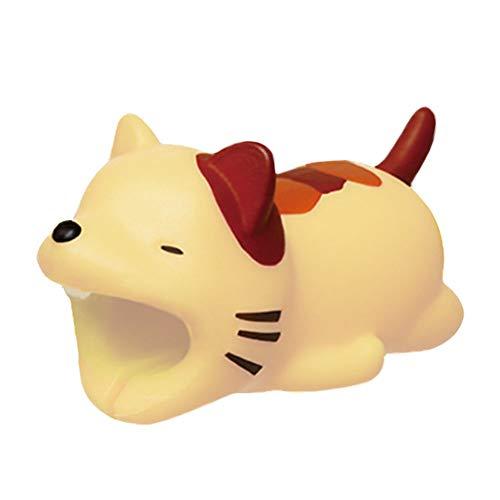 Cosanter Protector de Cable Diseño de Animales para iPhone, Protege el Cable y Evita roturas (Gato)