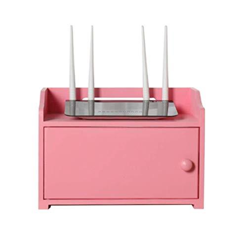 RMJAI WiFi Router Aufbewahrungsbox Set Top Box Regalveredelung Boxwood Floating Holder Hanging Shelf Brackets for TV-Boxen Spieler Lagerregal -
