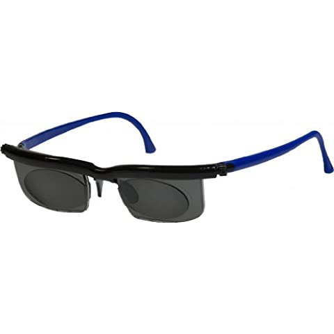 Adlens Relojes de color negro y azul Unisex variable enfoque Eyewear