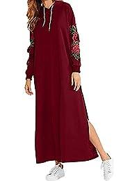CLOOM Vestito Donna Estivo Vestito Corto Floreale Boho Hippie Abito Senza  Maniche Donna Etnico Tribale Sexy Casual Elegante Abiti da… 5e043e9bc30