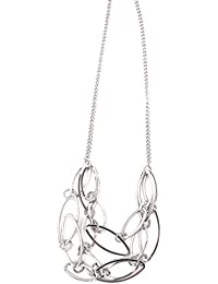 91de9d2699ad Tata Gisèle Collar Fantasía 45 cm de Metal Plateado – Rombos Estructura de  ...