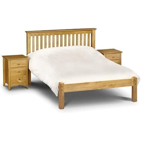 Julian Bowen Barcelona King Size Bed with Low Foot End, Antique Pine by Julian Bowen