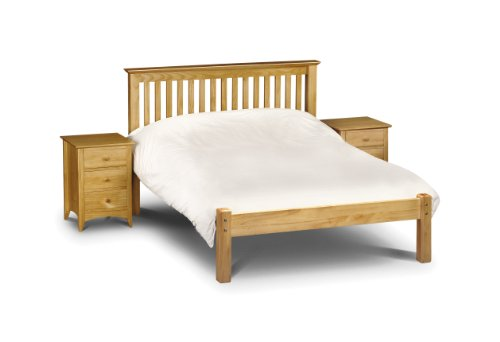 Julian Bowen Barcelona King Size Bed with Low Foot End, Antique Pine