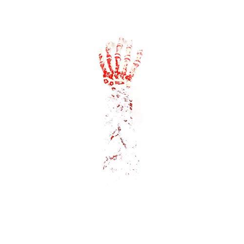 Halloween Dekoration Scary blutigen Gefälschte Latex Arm Hand Horror Props blutige Spuk Partei-Dekor (weiß Tuch & White Hand)