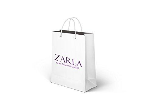 Zarla-Borsa a tracolla da donna in finta pelle di struzzo con chiusura a cartella e Nudo (Nude)