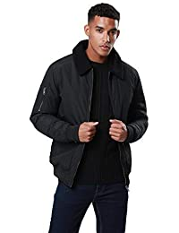 02ac80ed31 Mens Threadbare Laser Aviator Jacket Faux Suede Borg Lined Winter Coat