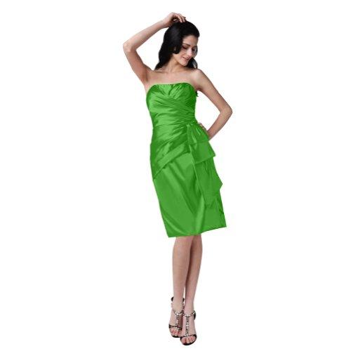 Sunvary elegante A Line-Abito da sera senza spalline-Pantaloncini lunghezza ginocchio, Prom Dress Green