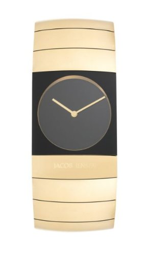 Jacob Jensen Arc Series Men's Quartz Watch with Black Dial Analogue Display and Gold Titanium Strap 573