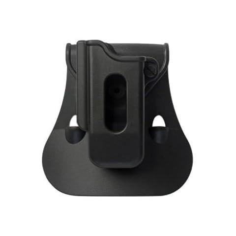 IMI Defense ZSP08 Simple cas de polymère de rotation roto pochette magazine pour Beretta GLOCK 17/19/22/23/25/26/27/31/32/33/34/35/37/38/39, BERETTA PX4 STORM, H&K P30, H&K USP COMPACT/ FS 9mm/.40, WALTHER PPX 9mm/.40, CZ 75 TACTICAL SPORTS