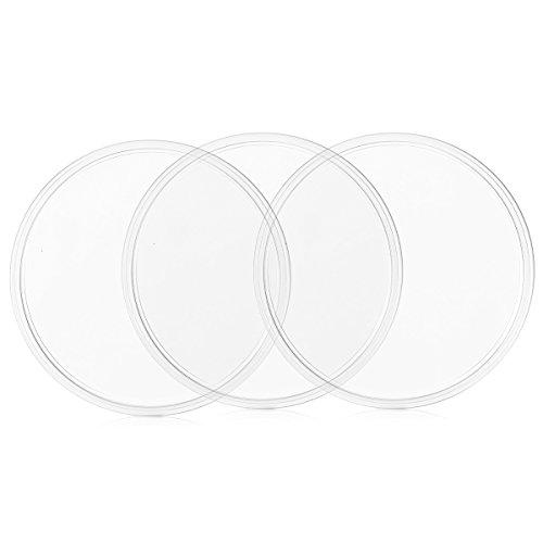 kwmobile 3X Universal Gel Klebepads - Doppelseitig klebende Anti-Rutsch Silikon Gelpads Transparent - optimal als Smartphone Halter und Navi Halterung -