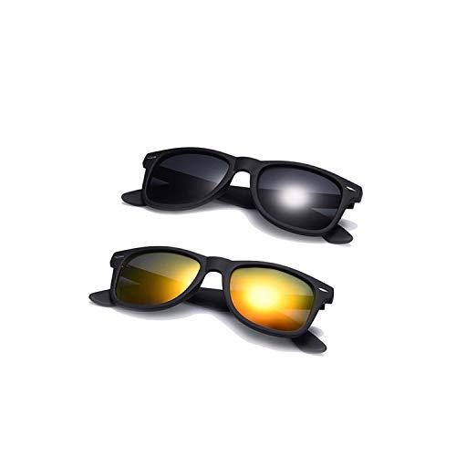 Sportbrillen, Angeln Golfbrille,Fashion Sunglasses Men Polarisiert Sunglasses Men Driving Mirrors Coating Points Black Frame Eyewear Male Sun Glasses UV400 C5-C1