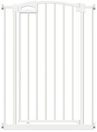 Munchkin Auto Close Tür-//Treppenschutzgitter mit Druckbefestigung selbstschließend weiß selbstschließend weiß 011442 bis zu 117 cm mit Verlängerung 76-82 cm