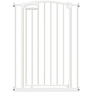 Callowesse Carusi Narrow Stair Gate. Self Closing, Quality Pressure Fitted Baby Gate. No Tools Required. (63-70cm, White)   3