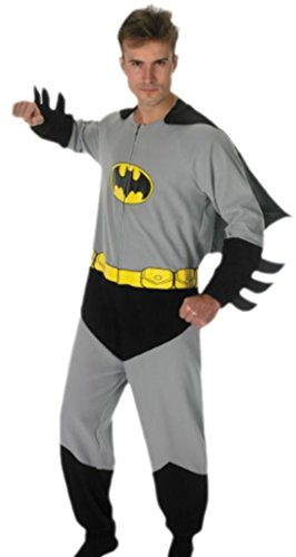 Halloweenia - Herren Batmankostüm Komplettanzug mit Cape, M, Grau