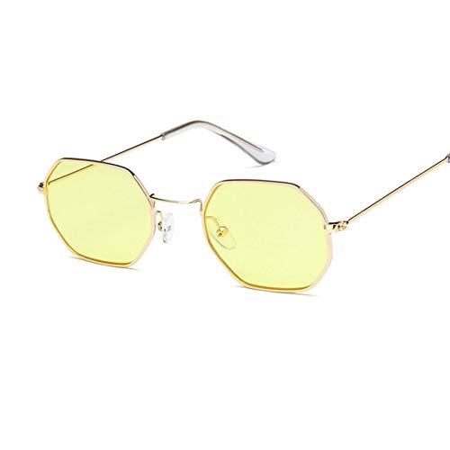 YOGER Sonnenbrillen Platz Sonnenbrille Frauen Männer Retro Mode Rose Gold Sonnenbrille MarkeTransparenteGläser Damen Sonnenbrille Frauen