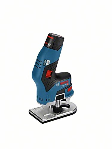 Bosch Professional 06016B0000 Affleureuse sans Fil, 12 V, Bleu/noir