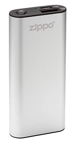 Zippo 2005820 HEATBANK 3 Wiederaufladbarer Handwärmer und Power Bank, Aluminium und Kunststoff, Silber
