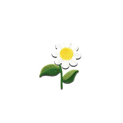Aufnäher/Bügelbild - Blume Gänseblümchen - grün - 4,1x3,4cm - Patch Aufbügler Applikationen zum aufbügeln Applikation Patches Flicken -